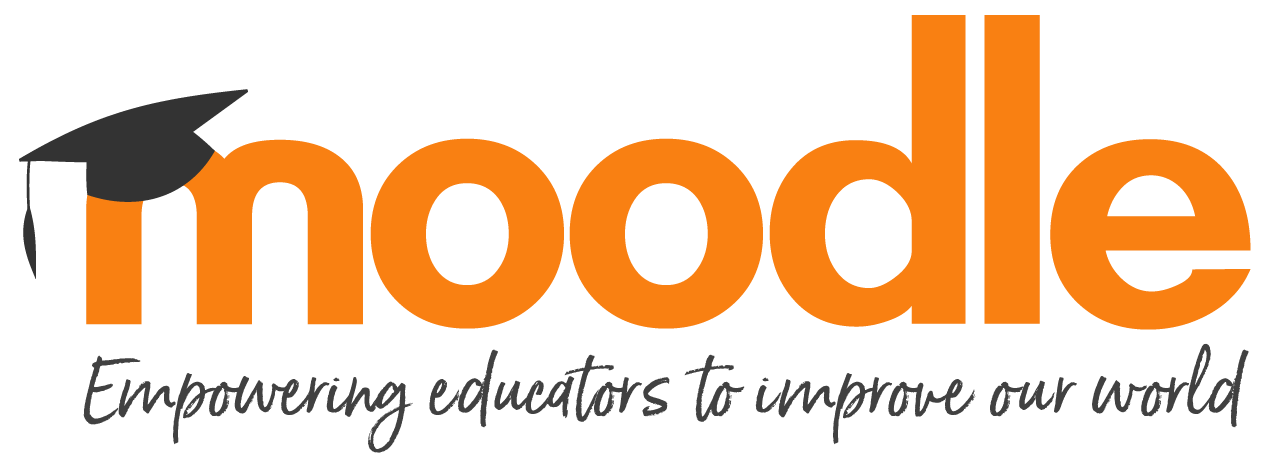 Moodle logo and mission: Empowering educators to improve our world